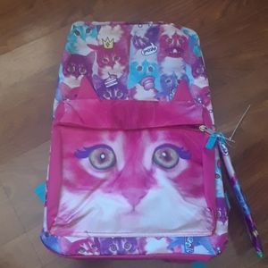 MAD Mavrick design kids kitten backpack NWT